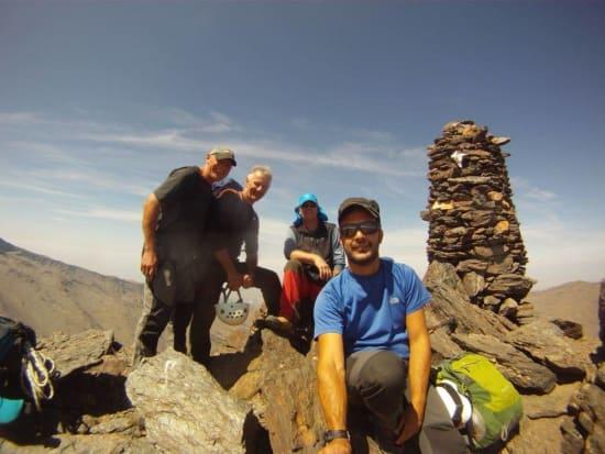 The team on the summit of Alcazaba, Sierra Nevada