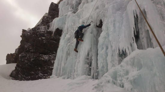 Don't Climb the Yellow Ice, Ice climbing, Sierra Nevada