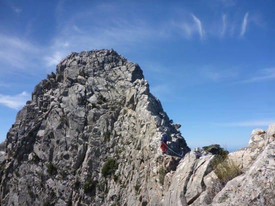 Felipe leads along the airy ridge