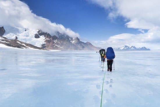 Heading towards the Viedma glacier exit