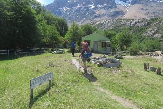 Arrival at Refugio Piedra del Fraile
