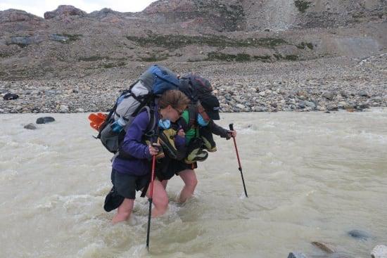 Crossing the Rio Pollone