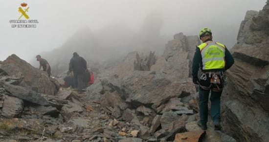 18 mountaineers rescued in the mists of Sierra Nevada
