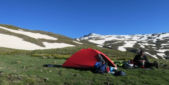 Reducing backpack weight for trekking in the Sierra Nevada