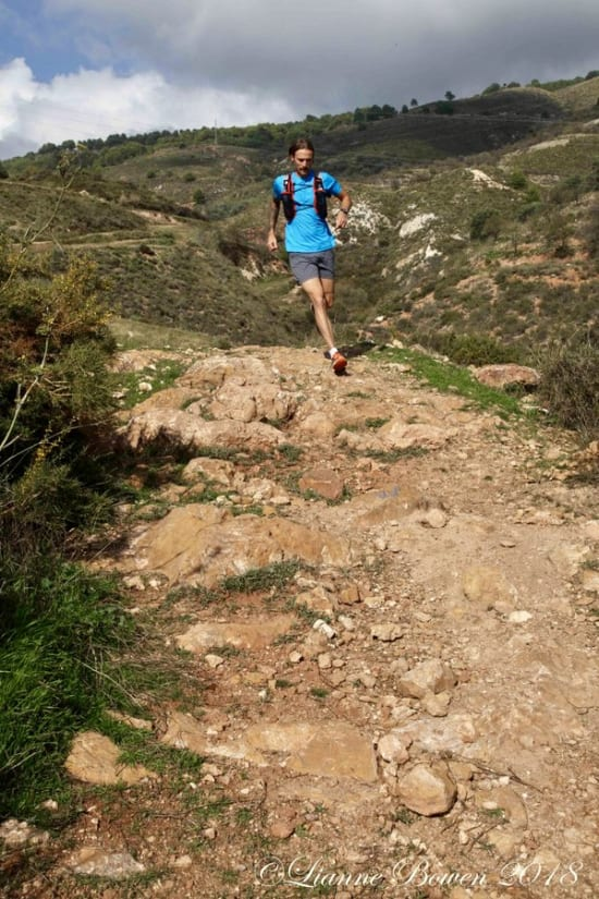 Running through the Sierra Nevada foothills