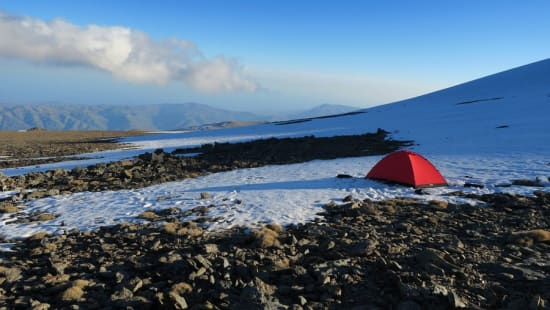 Camp at 3250m, south of Mulhacén