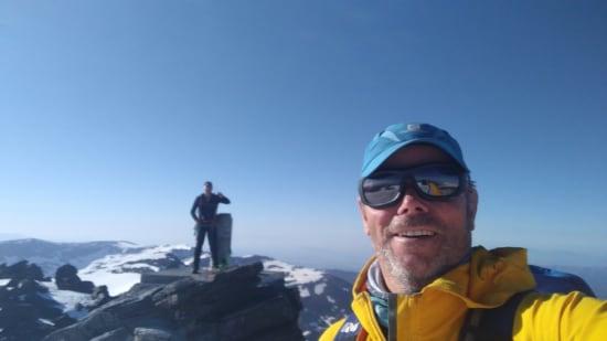 Dexter and Richard on the summit