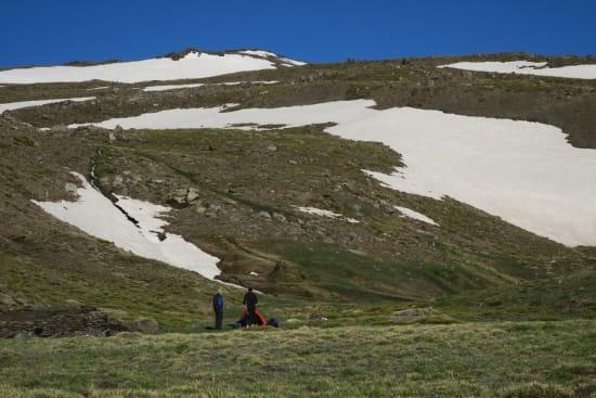 The ridge of Tajos de Peñón Negro seen from La Campiñuela
