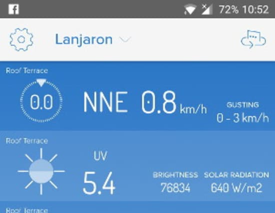 Weather Station installed above Lanjaron in the Alpujarras