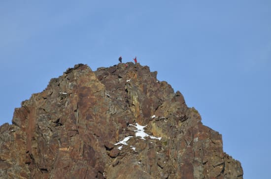 Jens, Javier and Felipe topping out on the Red Tower [photo: Richard Hartley]