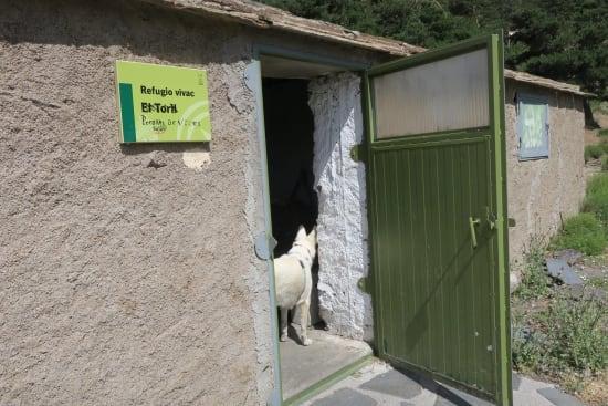 Day 2 - entrance to Refugio Vivac el Toril