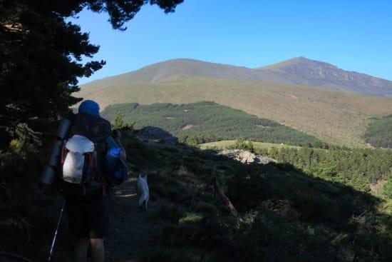 Day 3 - first view of the Sierra Nevada west of Puerta de la Ragua