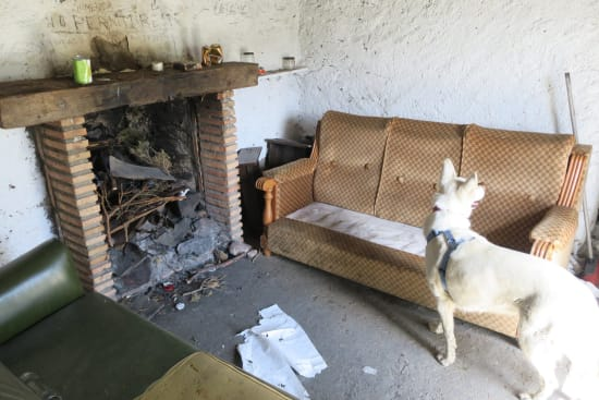 Day 2 - The untidy inside of the Refugio Vivac el Toril