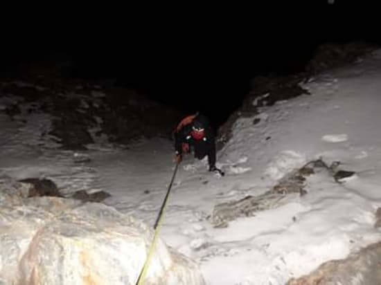 Climbing in the dark