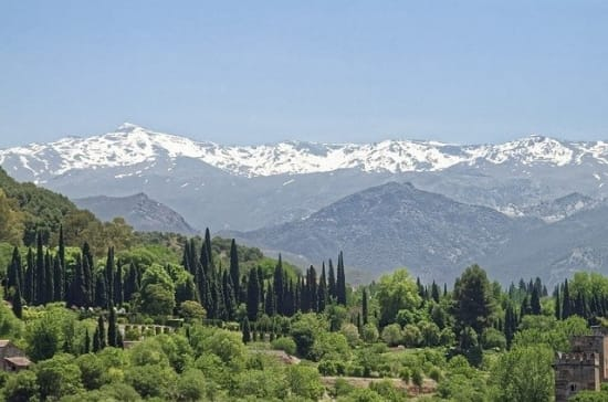 The Mountains of the Sierra Nevada above Granada