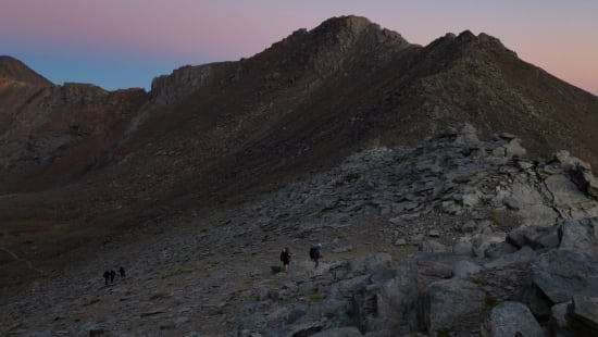 Approaching the start point from the Refugio de la Caldera