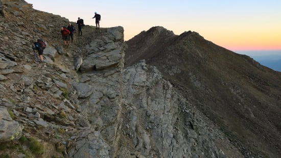 Walking the Vasar on the North Face of Mulhacen