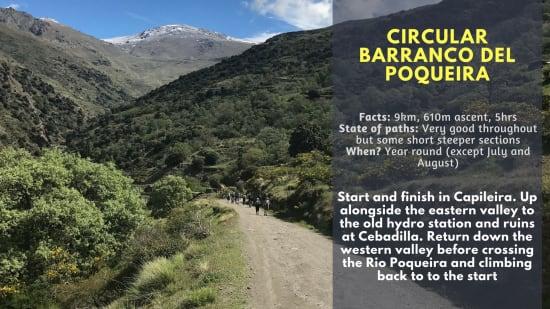 Circular hike Barranco del Poqueira