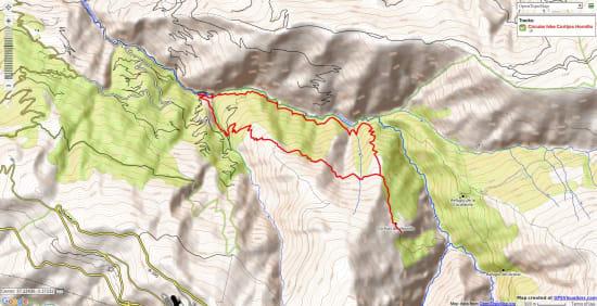 Map of walk to Cortijo Hornillo