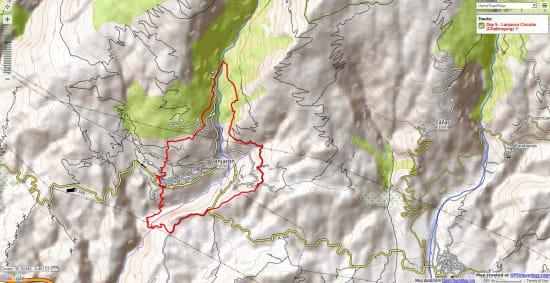 walking route round the Lanjaron Circular