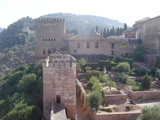 Trail running through Granada