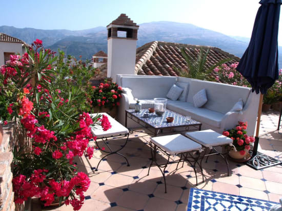 roof terrace area at Casa Aire Lecrin