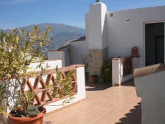terrace area at Casa Molino, townhouse, Lecrin, Alpujarras