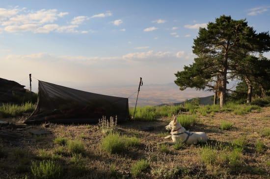 Overnight stop on the Sulayr GR240, Sierra Nevada
