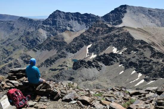 On Cerro de los Machos looking towards Mulhacen