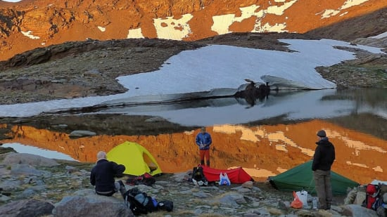 Overnight stop, Fastpacking in the Sierra Nevada