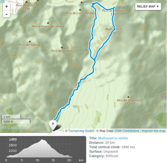 Routes to the Refugio Poqueira
