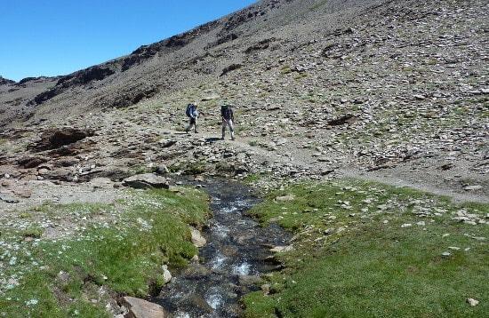 Sierra Nevada high mountain peaks