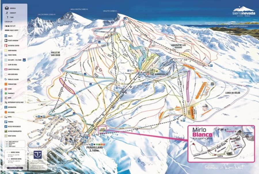 Sierra Nevada Ski Map