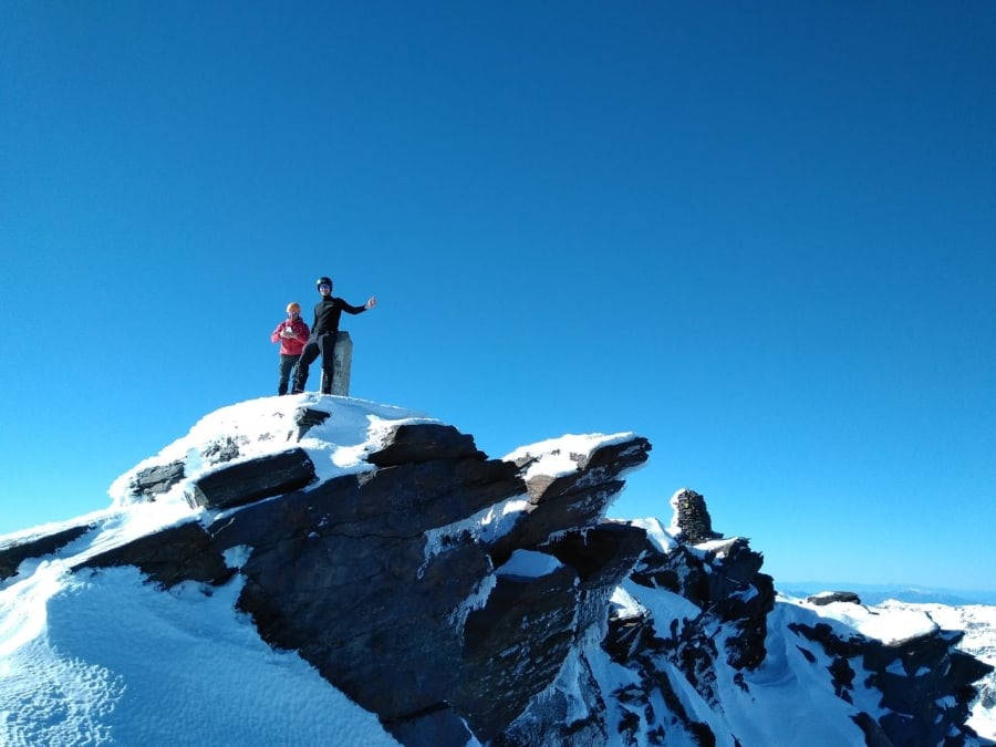 Winter on the Summit of Mulhacen