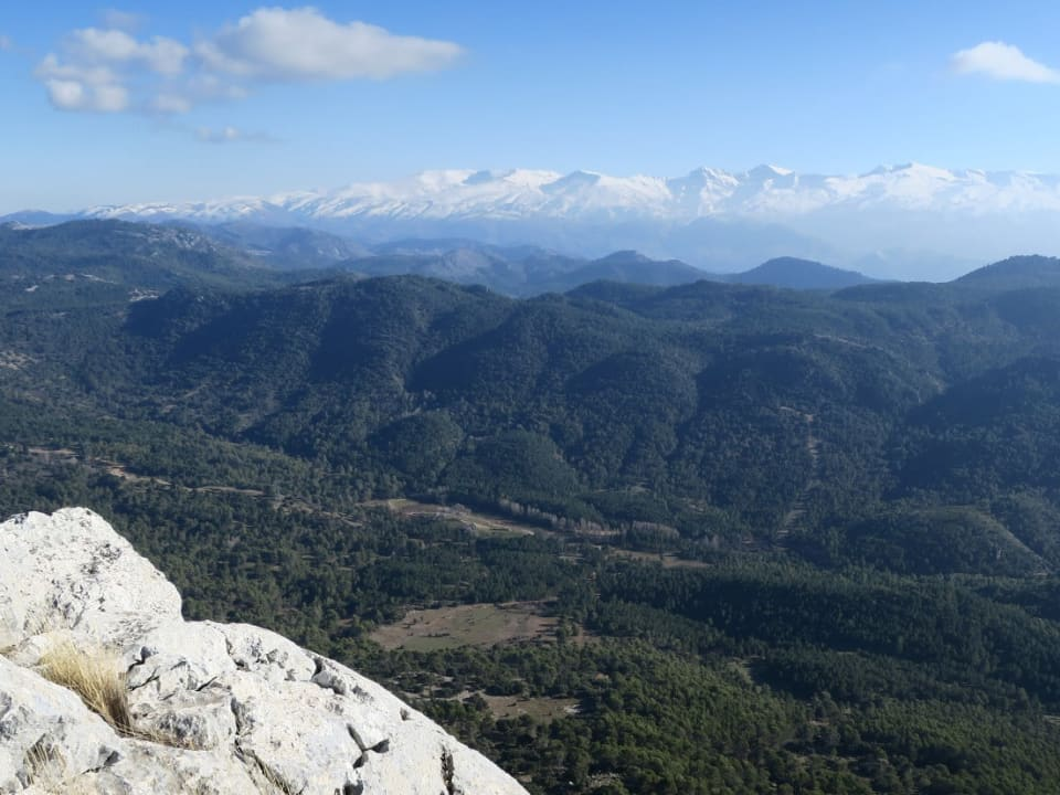 View from Penon de la Mata towards the Sierra Nevada