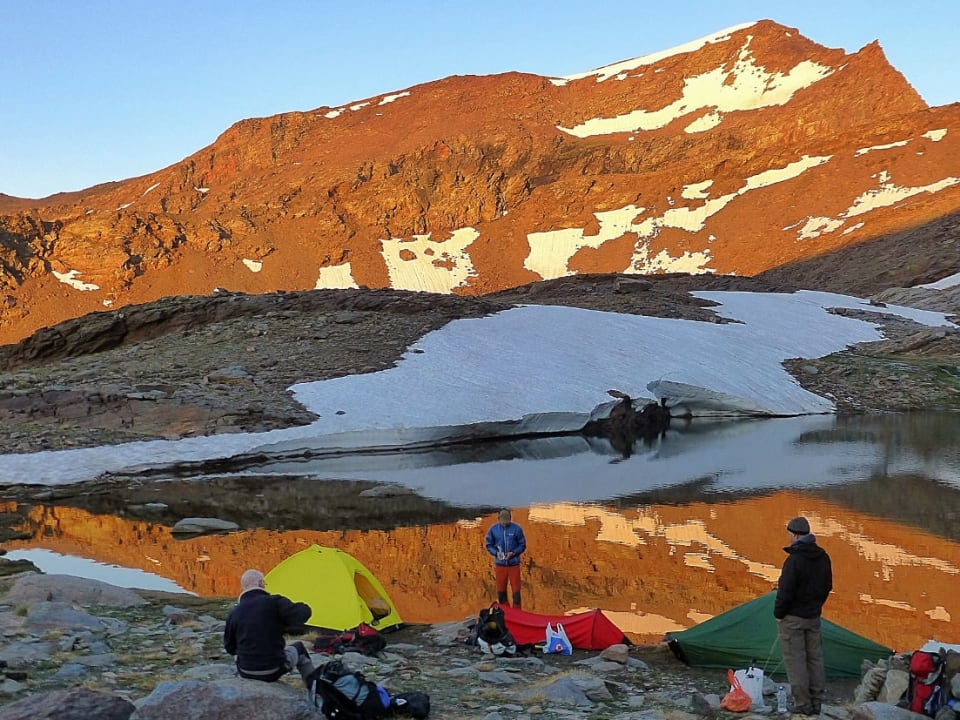 Sunset, Wild Camping, Crossing the Sierra Nevada