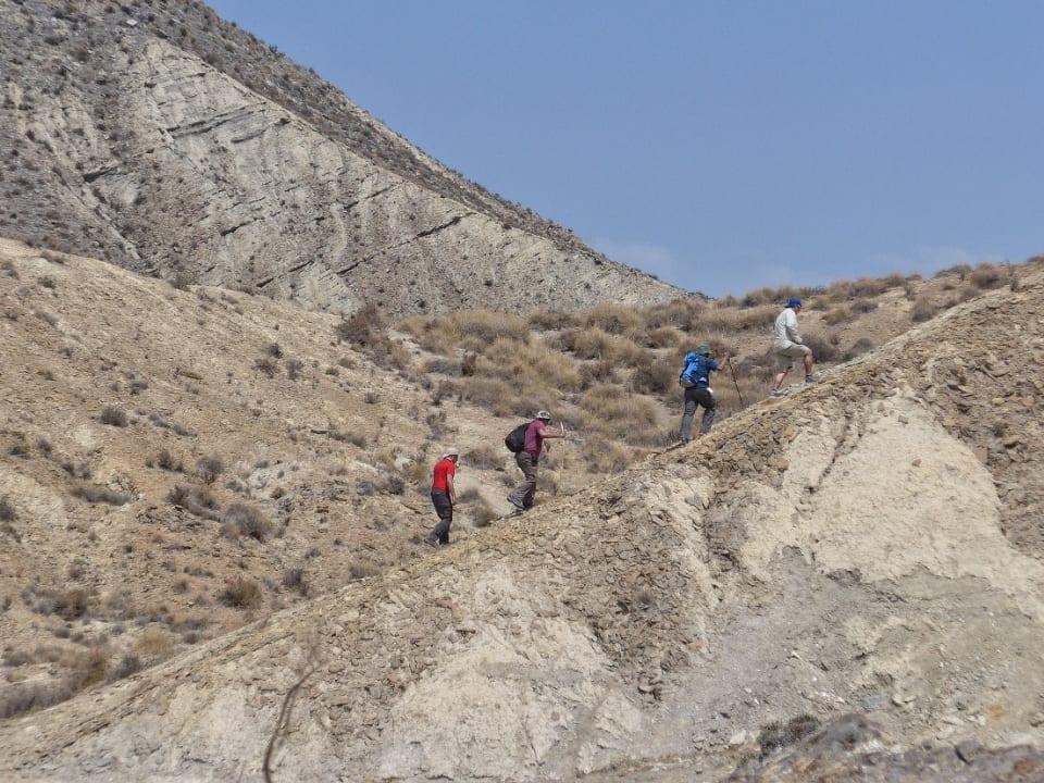 Day hiking tour in Almeria's desert badlands