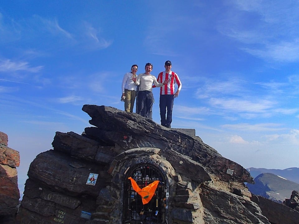 Made it! The summit of Mulhacen, highest in mainland Spain