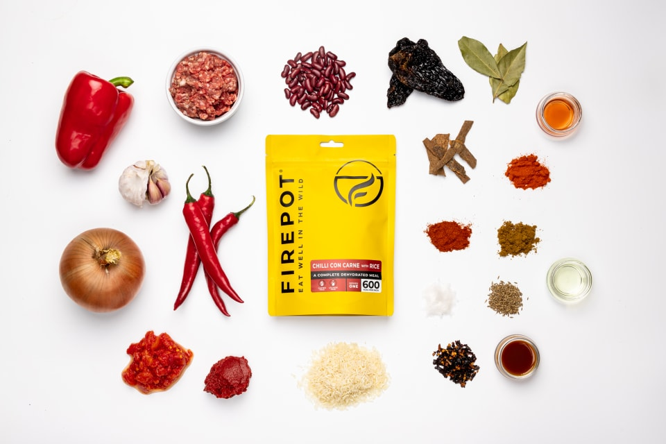 Ingredientes Chilli con carne