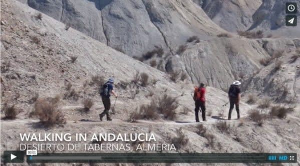 tabernas desert walking video