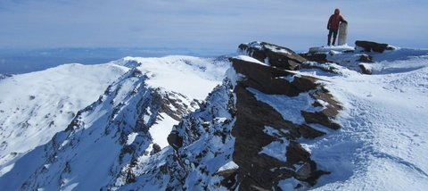 Summit of Mulhacen in winter