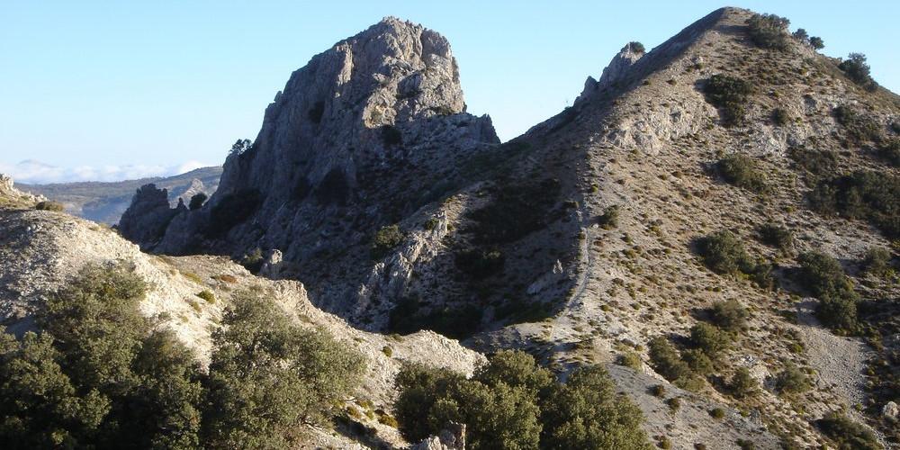 Ridge south from Corazon de la Sandia