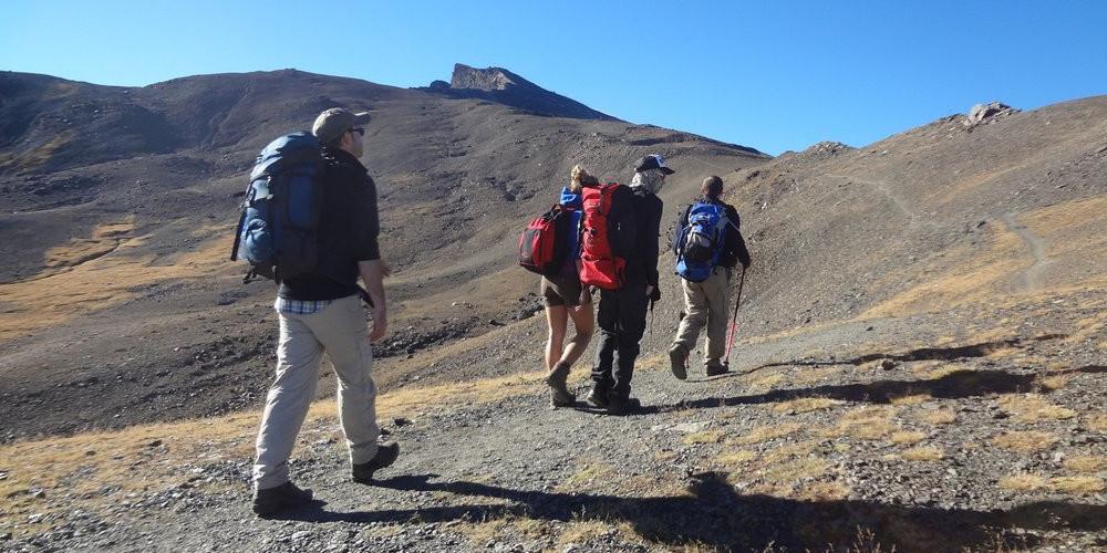 Heading up Veleta from Hoya de la Mora