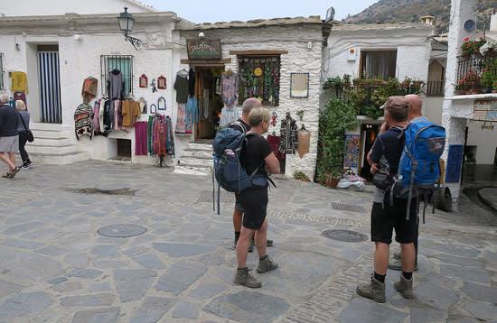 White village walking Las Alpujarras