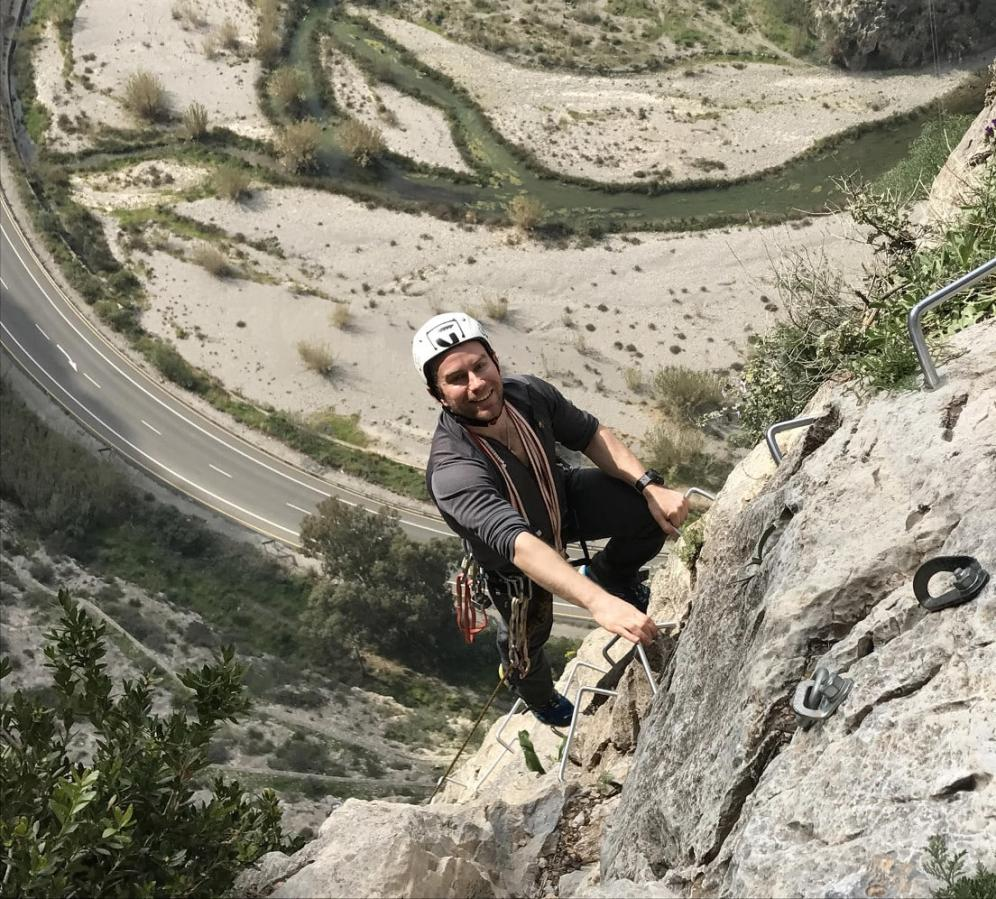 Up high on Los Valdos Via Ferrata