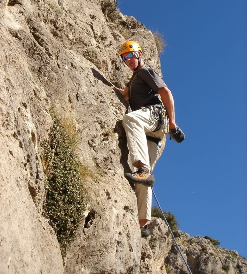 Some of the best rock climbing in Granada