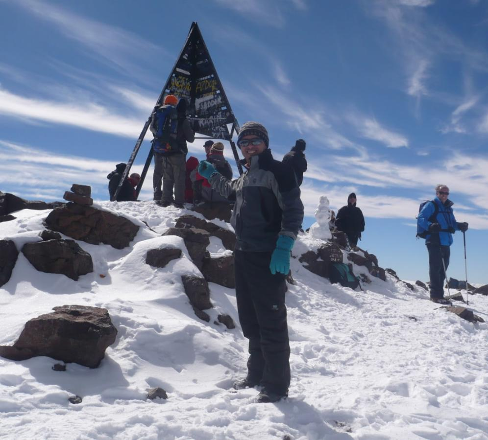 On the Toubkal Summit