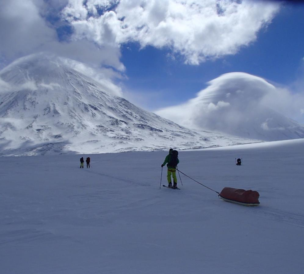 Expedition professionals to remote places - Berghaus sponsored expedition to ski volcanoes in Kamchatka