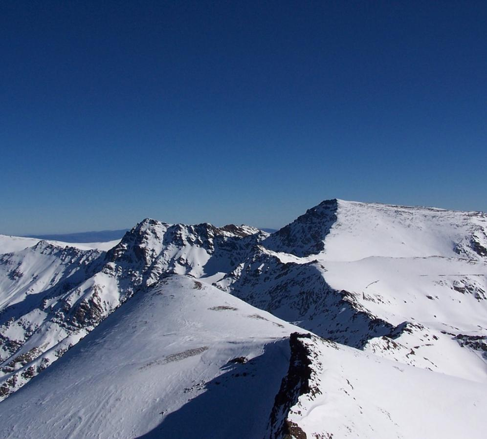 Mulhacen in winter as seen from Veleta