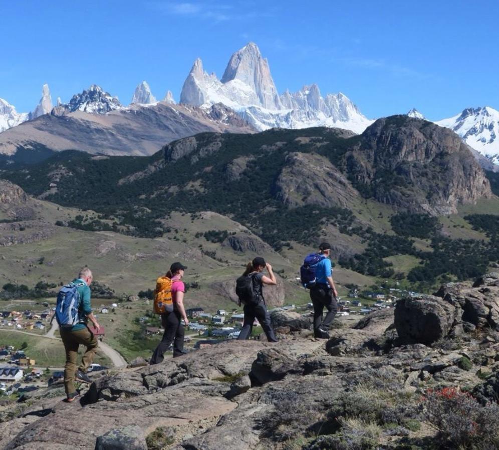 Returning walk to El Chalten